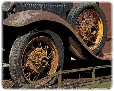 Wire Wheels Poster by Steve McKinzie
