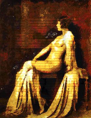 Woman Of The Night Poster by Georgiana Romanovna