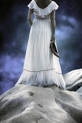 Woman On Rocks Poster by Joana Kruse