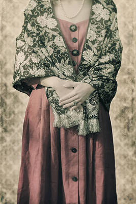Woman With Shawl Poster by Joana Kruse