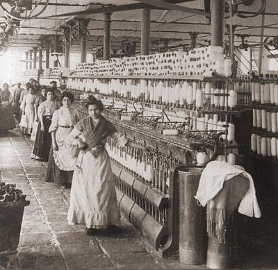 Women And Girls Working In The Spooling Poster by Everett