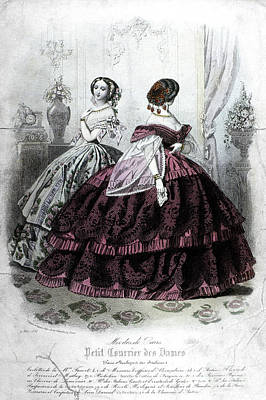 Womens Fashion, 1858 Poster by Granger