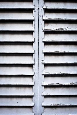 Wooden Shutters Poster by Tom Gowanlock