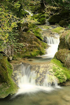 Woodland Waterfall Poster by Victoria Hillman