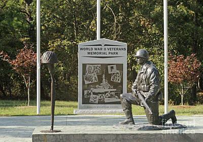 World War II Veterans Memorial Park Poster by Kathy Flugrath Hicks