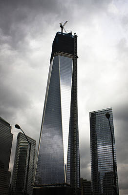 Wtc 1 Under Construction Poster by Teresa Mucha