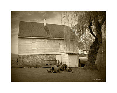 Wye Mill - Sepia Poster by Brian Wallace
