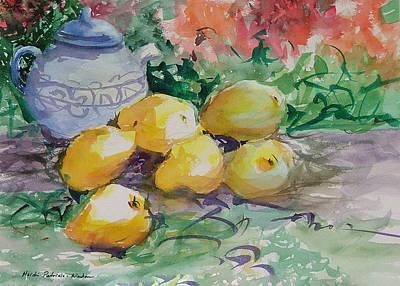 Yellow Pears Poster by Heidi Patricio-Nadon