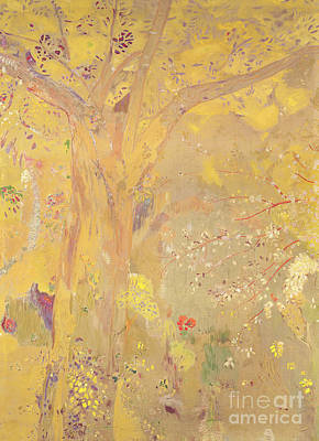 Yellow Tree Poster by Odilon Redon