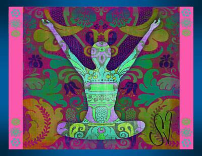 Yoga Card Poster by Dana Vogel