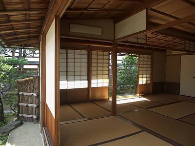 Zen Meditation Room Open To Garden - Kyoto Japan Poster by Daniel Hagerman
