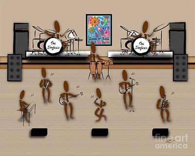 Zinglees-the Rock Band Poster by Linda Seacord