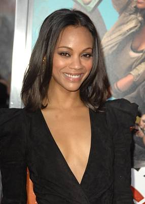 Zoe Saldana At Arrivals For The Losers Poster by Everett