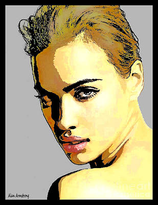 # 14 Irina Shayk Portrait Poster by Alan Armstrong