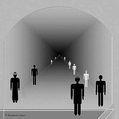 251 - Is There Hope  At The End Of The Tunnel    Poster by Irmgard Schoendorf Welch