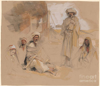 A Bedouin Encampment At Gebel Tor In The Sinai Desert Poster by John Frederick Lewis
