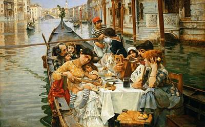 A Venetian Al Fresco Poster by William Logsdail