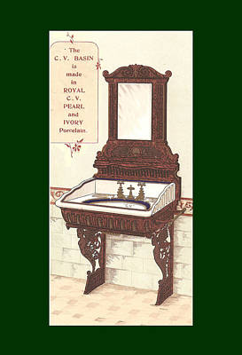 Bathroom Picture Wash Stand Two Poster by Eric Kempson