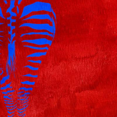Zebra Animal Colorful Decorative Poster 1 - By  Diana Van Poster by Diana Van