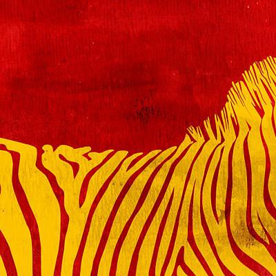 Zebra Animal Colorful Decorative Poster 2 - By  Diana Van Poster by Diana Van