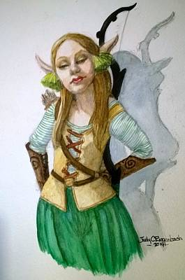 Elven Archer Poster by Judy Riggenbach