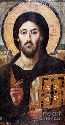 Encaustic Icon From Saint Catherine's Monastery Poster by Christ the Saviour