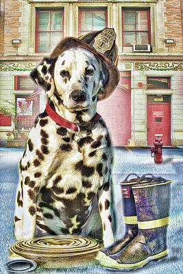 Firemans Friend Poster by Trudi Simmonds