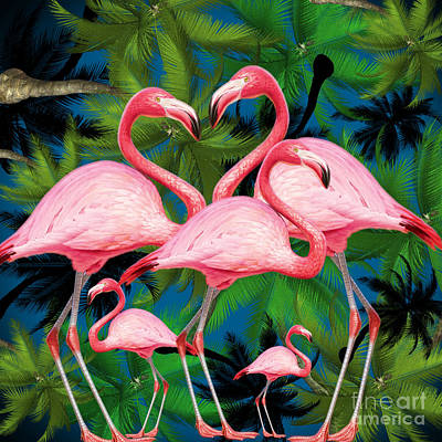 Flamingo Poster by Mark Ashkenazi