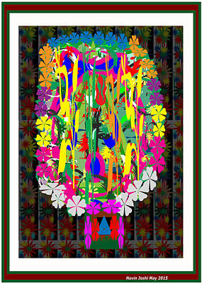Flower Bouquet  Colorful Abstract Art For Interior Decoration  By Navinjoshi Poster by Navin Joshi