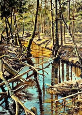 Lubianka-3-river Poster by Henryk Gorecki