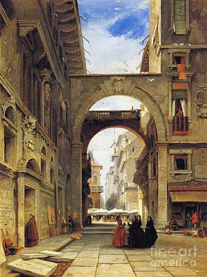 Piazza Dei Signori Poster by MotionAge Designs