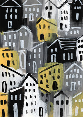 Rainy Day - Expressionist Art Poster by Linda Woods