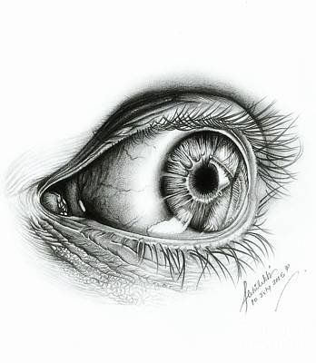 ' Realistic Human Eye' Poster by Abhilekh Phukan