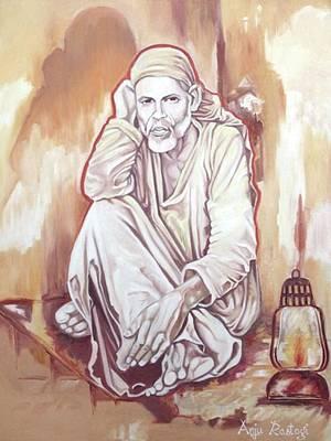 Sai Baba Painting Poster by Anju Rastogi