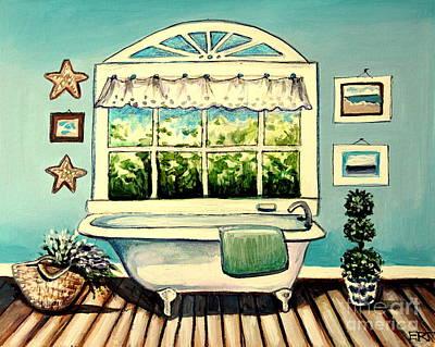 Soak In The Tub Poster by Elizabeth Robinette Tyndall