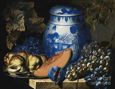 Still Life With Grapes Poster by Pierre Antoine