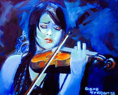 The Violinist  Poster by Gene Traganza