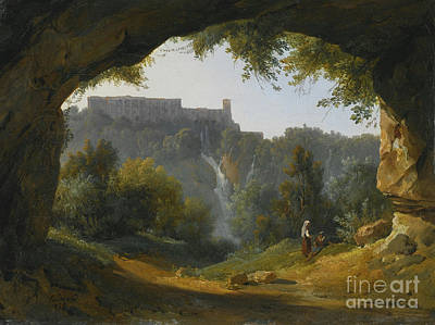 View Of Tivoli From A Grotto Poster by MotionAge Designs