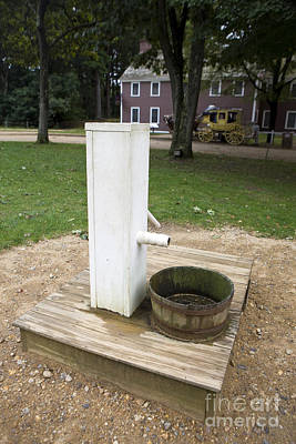 Water Pump And Well Old Sturbridge Villlage Poster by Jason O Watson