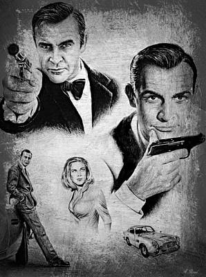 007 Connery Poster by Andrew Read