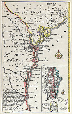 Map: North America, C1700 Poster by Granger