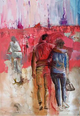 057 Newyork Lovers Poster by Maryam Mughal