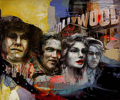 074 Hollywood Wax Museum Poster by Maryam Mughal