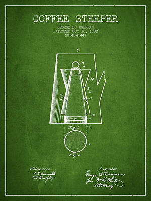 1892 Coffee Steeper Patent - Vintage Poster by Aged Pixel