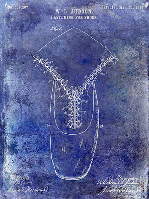 1896 Shoe Patent Blue Poster by Jon Neidert