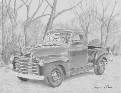 1953 Chevrolet Pickup Truck Art Print Poster by Stephen Rooks