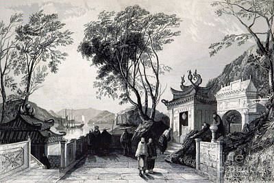 A-ma Temple, Macau, China, 19th Century Poster by British Library