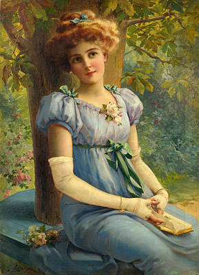 A Sweet Glance Poster by Emile Vernon
