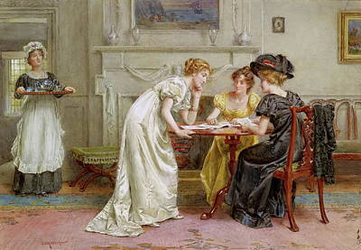 Afternoon Tea Poster by George Goodwin Kilburne