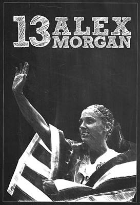Alex Morgan Poster by Semih Yurdabak